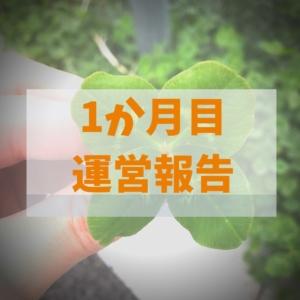 ブログ開設1か月:運営報告