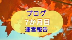 ブログ開設7か月:運営報告~PV・収益の桁Up!~